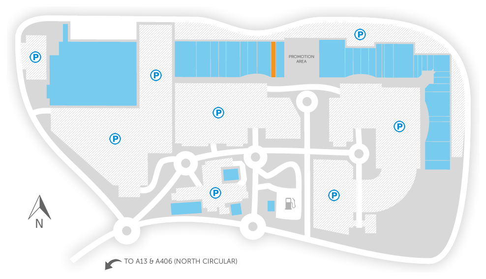 Stores a z gallions reach shopping park store map negle Images